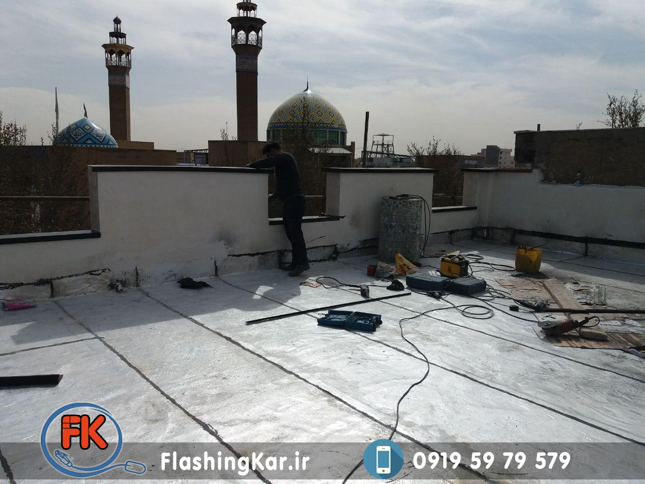 نمونه اجرای فلاشینگ پشت بام
